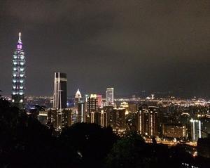 象山から見る台北の夜景