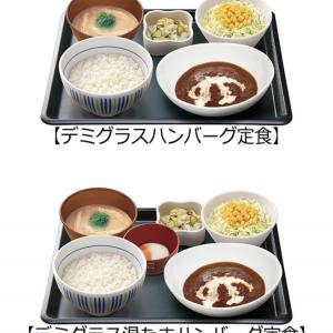 【なか卯】なか卯で洋食!?和風な洋食、デミグラスハンバーグ定食!