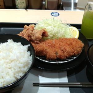 【松のや 堺東店】ロースかつ&本格唐揚げ定食