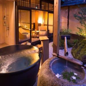 お茶風呂など随所でお茶を愉しむ『Nazuna 京都 二条城』(京都)