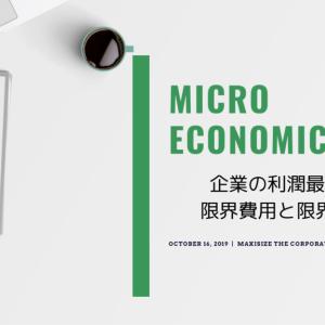 【ミクロ経済学】企業の利潤最大化と最適生産【限界費用・限界収入・限界利潤】