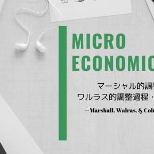 【ミクロ経済学】マーシャル的調整過程・ワルラス的調整過程【クモの巣理論】