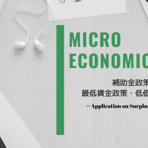 【ミクロ経済学】余剰分析と補助金政策・最低賃金政策・低価格維持政策