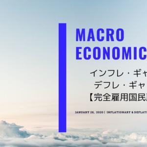 【マクロ経済学】インフレ・ギャップとデフレ・ギャップ【完全雇用国民所得】