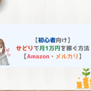 【初心者】せどりで月1万円を稼ぐ方法【Amazon・メルカリ】