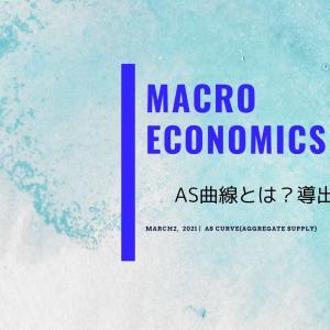 【マクロ経済学】AS曲線(総供給曲線)とは?【求め方/導出方法】