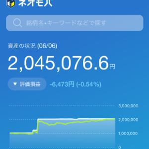 【日経爆上げ?】ネオモバ投資経過報告【2020年6月5日】