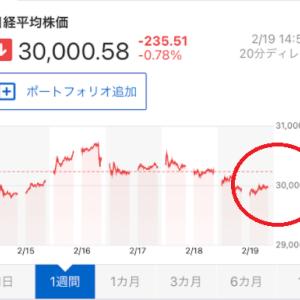 【日経平均3万円でギリ耐える】ネオモバ低位株投資【2021年2月】