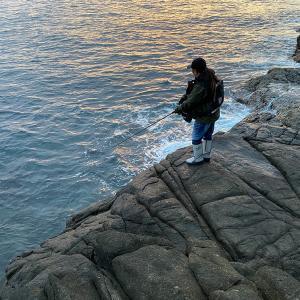 長崎県平戸の地磯釣行。博多にわ男だって・・。