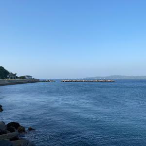 GW初日の防波堤。