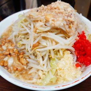 """ラーメン二郎 横浜関内店 - 16周年特別トッピング """"玉ねぎ納豆"""" 検証。諸々置いておいて意味のある一杯。"""