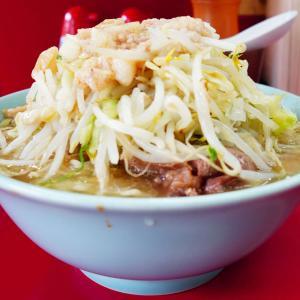 ラーメン二郎 中山駅前店 - カタカタ麺は生小麦の芯を搭載。塊豚はかなりの味染み裂けるチーズ系。何の問題もない。