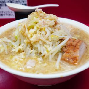ラーメン二郎 京急川崎店 - ラストロット一つ前は落ち着いて丼との対話を楽しめる。気付いたら完飲。