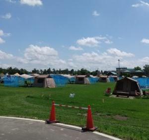 「新篠津の道の駅はキャンプでいっぱい!」