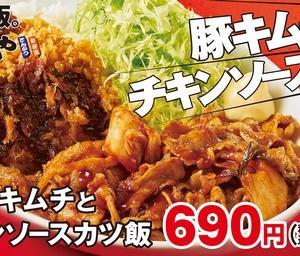 「かつやの新メニュー【合い盛りシリーズ】登場!」