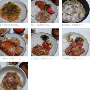 11/08~11/14の晩ごはんとお弁当(お昼)