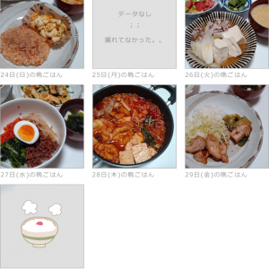 1/24~1/30の晩ごはんとお弁当(お昼)