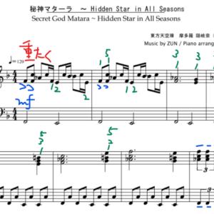 【東方ピアノ】秘神マターラ ~ Hidden Star in All Seasons
