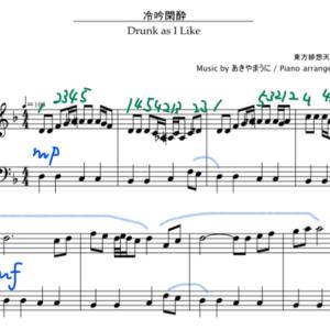 【東方ピアノ】冷吟閑酔