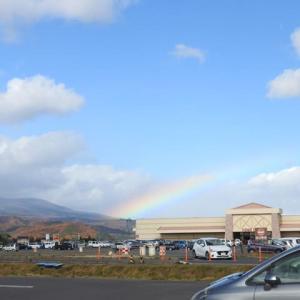 早番のからだほぐして冬の虹