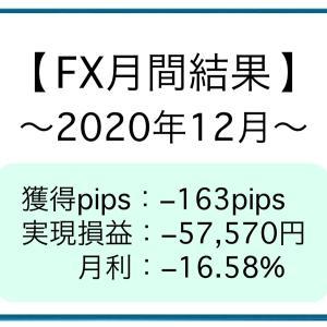 【月間結果】2020年12月 −163pips [−57,570円]