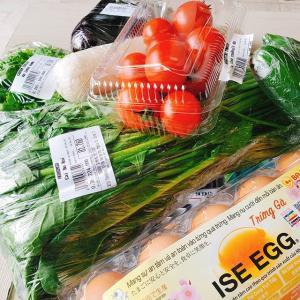 ついでに各種野菜、卵もデリバリー。便利よ。