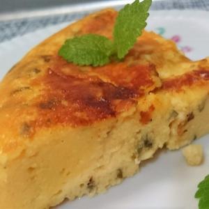 炊飯器で作る!レモンバームで作るチーズケーキ【レシピ】