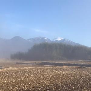 浅間山冬景色