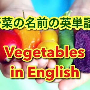【動画】野菜の名前を英語で言ってみよう★野菜の英単語30選!