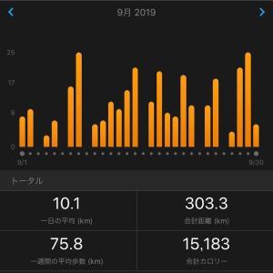 9月まとめ。腸脛靭帯炎からの300km。