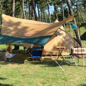 休暇村能登千里浜キャンプ場で愛犬と一緒に久しぶりの親子キャンプ!