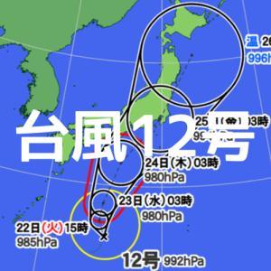 台風12号への対応について