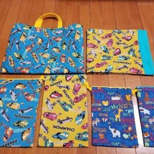 幼稚園グッズ手作り|巾着・手提げバッグ・防災頭巾クッションカバー