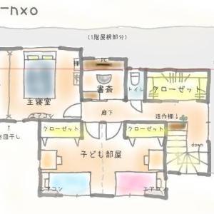 我が家の間取りをご紹介します(part2)!!今回は2階です。