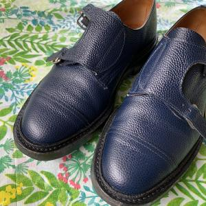 靴メンテをして、足元。