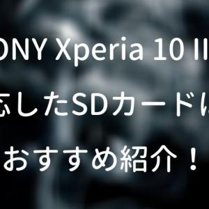 SONY Xperia 10 IIに対応したSDカードは?おすすめ紹介!