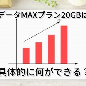 auデータMAXプラン20GBは具体的に何ができる?