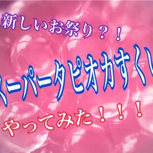 【新しいお祭り】スーパータピオカすくい!やってみた!