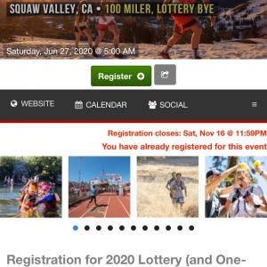 The Western States Endurance Run 100mile