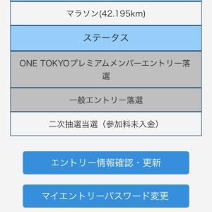 東京マラソン2021 断念