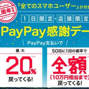 【スマホ初心者】1日限定20%還元!【ペイペイお得情報】
