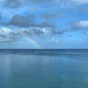 【夫婦で行くグアム旅】 海を眺めながらいただく朝食
