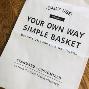 【セリア】ランドリーバッグが赤ちゃんかごにちょうどいい!固定用洗濯ばさみも便利です。