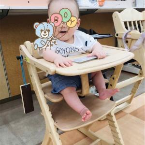 生後8ヶ月半ば。ベビーチェアを購入しました!大和屋の「すくすくチェア スリムプラス」、大満足です!