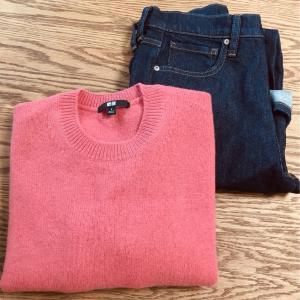 【ユニクロ】秋の普段着。セーターとデニムを調達してきました!