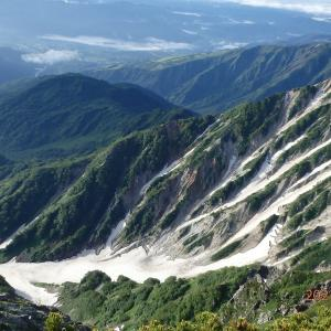 白馬岳~②剱岳・槍ヶ岳・富士山が見えた