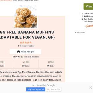 Sep.2 2019 / 卵不使用のバナナマフィンレシピ