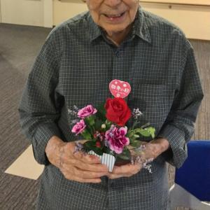 夜のつぶやき〜初めて花を活けた父〜