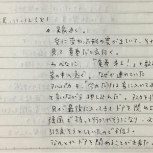 11月12日の夢 「竜巻」「波」「両替」「あーるしゅだ」