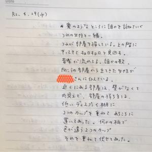 4月29日の夢 「寮」「ウーリー糸」「男性の足」「水玉」「友近さん」「知人カップル」